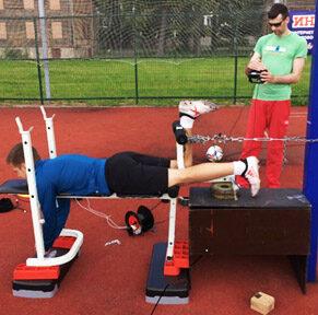 Миниатюра для записи Effect of KAATSU-training on the maximum voluntary isometric contraction of lower extremity muscles of qualified football players